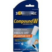 CompoundW Plantar Kit, Wart Removal System, Maximum Freeze