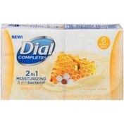Dial Complete 2 in 1 Moisturizing & Antibacterial Beauty Bar Soap, Manuka Honey