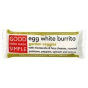 Good Food Made Simple Burrito, Egg White, Garden Veggies