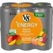 V8 V-Fusion + Energy Peach Mango Vegetable & Fruit Juice