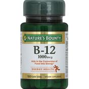 Nature's Bounty Vitamin B-12, 1000 mcg, Coated Tablets