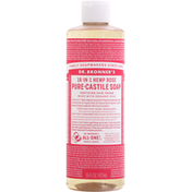 Dr. Bronner's Liquid Soap, Pure-Castile, Rose