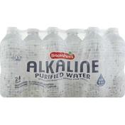 Brookshire's Water, Purified, Alkaline, 24 Pack
