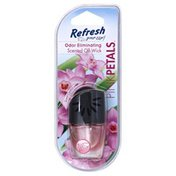 Refresh Your Car Scented Oil Wick, Pink Petals, Odor Eliminating, Blister Pack