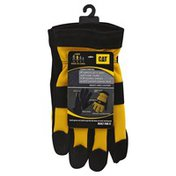 Cat Gloves, Men's Lined Leather, Large