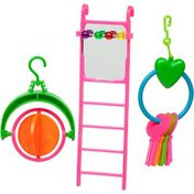 You & Me Ladder With Toys Bird Toy