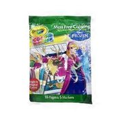 Crayola Mess Free Coloring Frozen 2 Color Wonder 18 Pages Coloring Book & 5 Markers Set