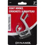 Dynamik Coat Hooks, 3 Inch