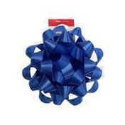 """American Greetings 4"""" Bright Blue Gift Confetti Poly Bow"""