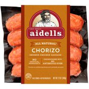 Aidells Smoked Chicken Sausage, Chorizo, 12 oz. (4 Fully Cooked Links)