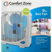 Comfort Zone Fan, Box, 9 Inch