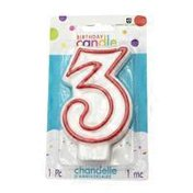 American Greetings Number 3 Birthday Candle Party Supplies