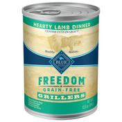 Blue Buffalo Freedom Grillers Grain Free Natural Adult Wet Dog Food, Hearty Lamb