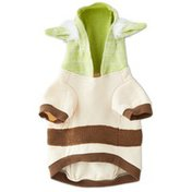 Star Wars Extra Small Hybrid Yoda Dog Sweater With Knit Hoodie