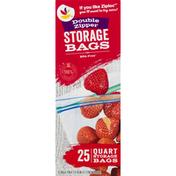 SB Storage Bags, Double Zipper, Quart