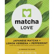 Matcha Love Matcha, Japanese, + Lemon Verbena + Peppermint, Bags