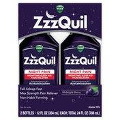 Vicks ZzzQuil Nighttime Pain Relief Sleep Aid Liquid\