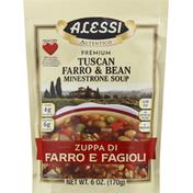 Alessi Minestrone Soup, Tuscan Farro & Bean, Premium