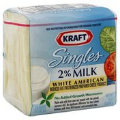 Kraft Cheese Product, Pasteurized Prepared, White American, Reduced Fat, 2% Milk Singles