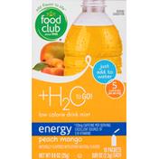 Food Club Drink Mix, Peach Mango, Energy