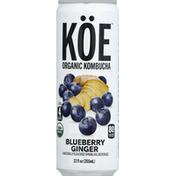 Koe Kombucha, Organic, Blueberry Ginger