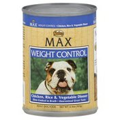 NUTRO Dog Food, Adult, Weight Control, Chicken, Rice & Vegetable Dinner
