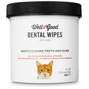 Well & Good Cat Dental Wipes