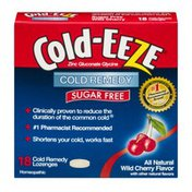 Cold-Eeze Cold Remedy Sugar Free Lozenges Wild Cherry - 18 CT