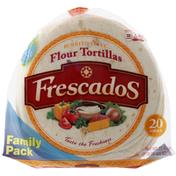 Frescados Flour Tortillas, Burrito Style, Small, Family Pack