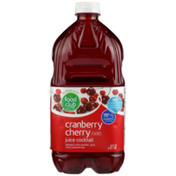 Food Club Cranberry Cherry Flavored Juice Cocktail Blended With Another Juice From Concentrate