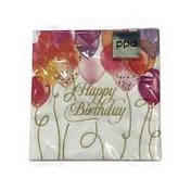 Paperproducts Design Birthday Balloons Cocktail Beverage Napkins