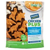 Perdue CHICKEN PLUS Chicken Breast Vegetable Dino Nuggets