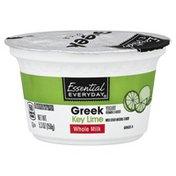Essential Everyday Yogurt, Greek, Whole Milk, Key Lime