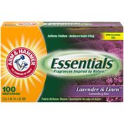 Arm & Hammer Essentials Lavender & Linen Fabric Softener Sheets