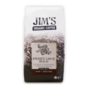 Jim's Organic Coffee Sweet Love Blend, Dark Roast, Whole Bean Coffee