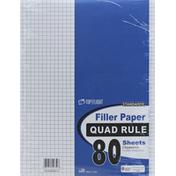 Top Flight Filler Paper, Quad Rule