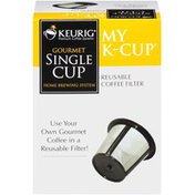 Keurig Dr Pepper Gourmet Single Cup Home Brewing System My K-Cup Reusable Coffee Filter