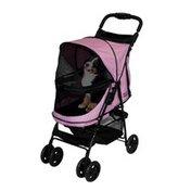 """Pet Gear Happy Trails No-Zip Dogs Stroller - Pink Diamond - 30.5"""" L x 15"""" W"""