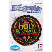 Betallic Balloon, Birthday, Holographic, 18 Inches