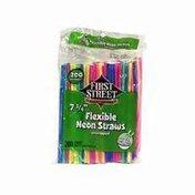 First Street Neon Flex Straws