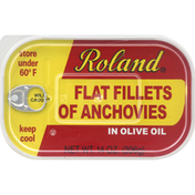 Roland Anchovies, Flat Fillets, in Olive Oil