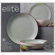 Gibson Elite Dinnerware Set, Terracota, Contempo Classic, Mint