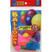 Ja-Ru Inc. Balloons, Decorator Style, Round, 9 Inch