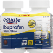 Equate Ibuprofen, 200 mg, Coated Tablets, 2 Pack