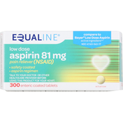 Equaline Pain Reliever (NSAID), Aspirin, Low Dose, 81 mg, Tablets