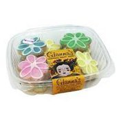 Gianna's Handmade Baked Goods Daisy Florets Hand Frosted Sugar Cookies