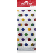 Creative Converting Treat Bags with Twist Ties, Multicolor