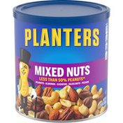 Planters Mixed Nuts Less Than 50% Peanuts with Peanuts, Almonds, Cashews, Hazelnuts, & Pecans