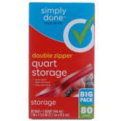 Simply Done Double Zipper Quart Storage Bags
