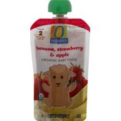 O Organics Baby Food, Organic, Banana, Strawberry & Apple